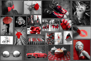 mood board example for the colors on asigma web design.